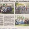 Rassegna stampa Camminata della Solidarietà e 1° Campionato di Provinciale di Atletica Leggera FISDIR